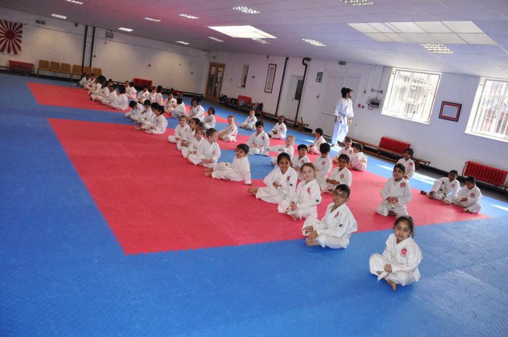 Peewee karate grading